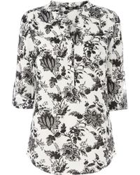 Oasis Engraved Floral Paisley Shirt - Lyst