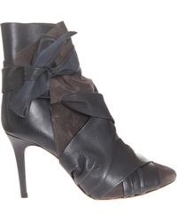 Isabel Marant Angie Leather Boot with Detail - Lyst