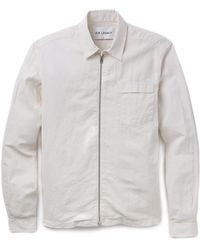 Our Legacy Coated Linen Shirt Jacket - Lyst