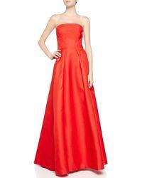 J. Mendel Strapless Gazaar Bustier Gown - Lyst