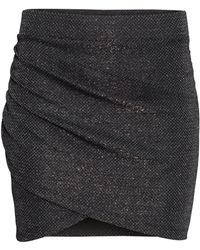 H&M Black Wraparound Skirt - Lyst