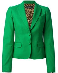 Dolce & Gabbana Classic Fitted Blazer - Lyst