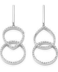 Monica Vinader Diva Kiss Open Cocktail Earrings - Lyst