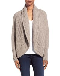 Kinross Cashmere - Cashmere Mixed Stitch Cardigan - Lyst
