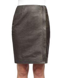 Haider Ackermann Athena Leather Skirt gray - Lyst