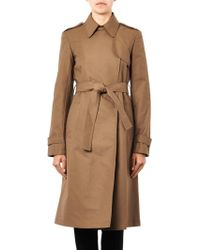 Theory Ashling Cotton Trench Coat - Lyst