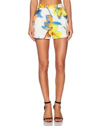 Milly Pleated Short - Lyst