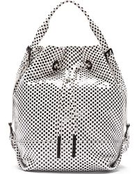 Opening Ceremony - White and Black Suede Izzy Backpack - Lyst