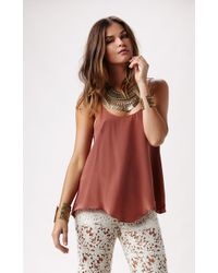 Rory Beca Poison Scoop Neck Flare Cami - Lyst