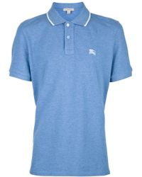 Burberry Brit Light Blue Polo - Lyst