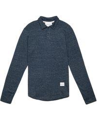 MKI Miyuki-Zoku   Indigo Long Sleeve Polo Shirt   Lyst