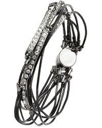 ABS By Allen Schwartz Multi-strand Magnetic Bracelet - Lyst