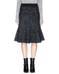 Theory 'Marvita' Reversible Stretch Wool Blend Flute Skirt silver - Lyst