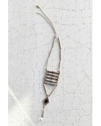 Vanessa Mooney Viviane Silver Ladder Necklace - Lyst