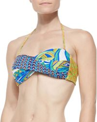 Trina Turk Amazonia Twisted Printed Bandeau Top - Lyst