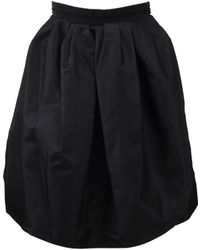 Carven Full Skirt with Fitted Waist - Lyst