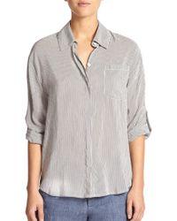 Alice + Olivia Richley Striped Shirt - Lyst