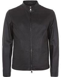 Boss Black T-conlen Leather Jacket - Lyst