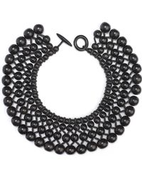 Natori Four Layer Beaded Necklace - Lyst