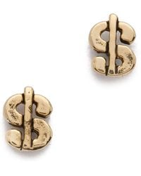 Snash Jewelry - Dolla Dolla Stud Earrings - Gold - Lyst
