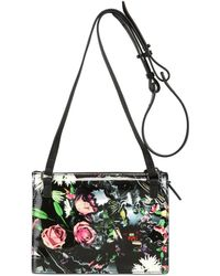 McQ by Alexander McQueen Floral Printed Leather Shoulder Bag - Lyst
