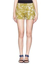 Jason Wu - Botanical Print Crepe Shorts - Lyst