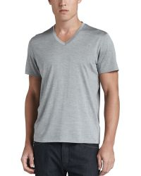 Theory Silkcotton V-neck Tee - Lyst
