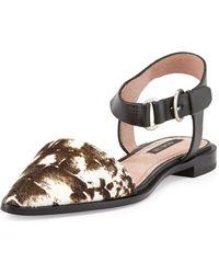 Rachel Zoe Iris Calfhair And Leather Sandal - Lyst
