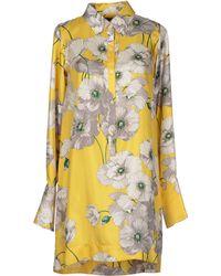 Coast Yellow Short Dress - Lyst