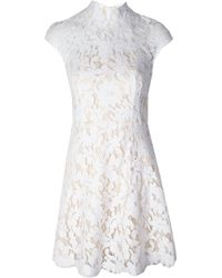Lover Warrior Lace Mini Dress Ivory - Lyst