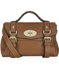 Mulberry Mini Alexa Polished Buffalo Satchel - Lyst
