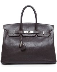 Hermès | Pre-owned Cafe Brown Gulliver Birkin 35cm Bag | Lyst