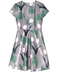Suno Center Seam Godet Dress - Lyst