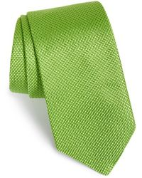 Ted Baker Solid Silk Tie green - Lyst