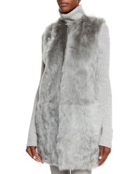 Ralph Lauren Black Label - Longline Shearling-Fur Vest - Lyst