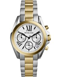 Michael Kors Women'S Chronograph Mini Bradshaw Two-Tone Stainless Steel Bracelet Watch 36Mm Mk5912 - Lyst