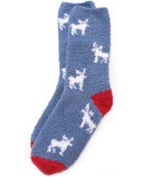 Pj Salvage - Moose Socks - Denim - Lyst