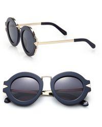 Karen Walker | Maze 47mm Round Sunglasses | Lyst