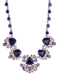Givenchy Light Hematite-tone Purple Crystal Collar Necklace - Lyst