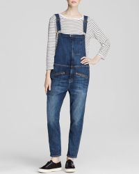 Current/Elliott Overalls - The Zip Boyfriend In Loved - Lyst