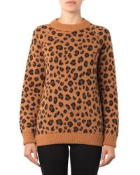 Tak.ori Cortina Leopard Knit Sweater - Lyst