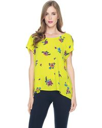 Splendid Ashbury Floral Cross Back Tee - Lyst