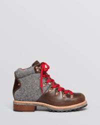 Woolrich - Lace Up Lug Sole Booties - Rockies Hiker - Lyst