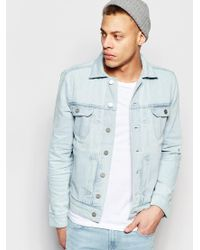 WÅVEN - Denim Jacket Axel 2 Pocket Bleached Out Blue - Bleached Out - Lyst