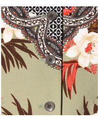 Etro Printed Cotton Coat - Lyst