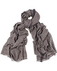 Black.co.uk Houndstooth Cashmere Shawl - Lyst