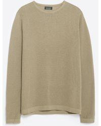 Zara | Textured Weave Sweater | Lyst