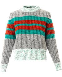 Jonathan Saunders Leona Striped Wool-blend Sweater - Lyst