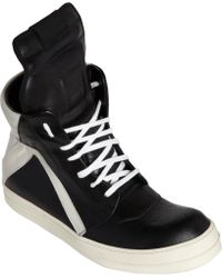 Rick Owens Geobasket High-Top Sneakers - Lyst