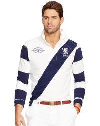 Polo Ralph Lauren Banner-Stripe Rugby Shirt - Lyst